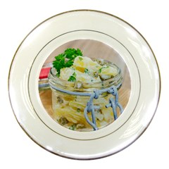 Potato Salad In A Jar On Wooden Porcelain Plates by wsfcow