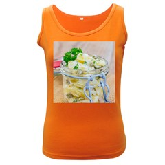 Potato Salad In A Jar On Wooden Women s Dark Tank Top by wsfcow