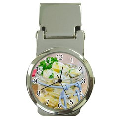 Potato Salad In A Jar On Wooden Money Clip Watches by wsfcow