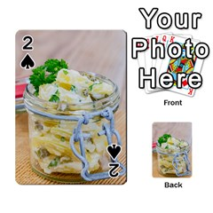Potato Salad In A Jar On Wooden Playing Cards 54 Designs
