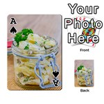 Potato salad in a jar on wooden Playing Cards 54 Designs  Front - SpadeA