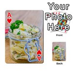 Potato salad in a jar on wooden Playing Cards 54 Designs  Front - HeartA