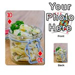 Potato salad in a jar on wooden Playing Cards 54 Designs  Front - Diamond10