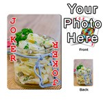 Potato salad in a jar on wooden Playing Cards 54 Designs  Front - Joker2