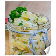 Potato Salad In A Jar On Wooden Canvas 8  X 10  by wsfcow