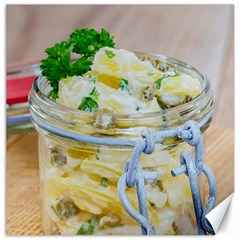 Potato Salad In A Jar On Wooden Canvas 16  X 16   by wsfcow