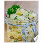 Potato salad in a jar on wooden Canvas 16  x 20   20 x16 Canvas - 1