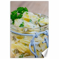 Potato Salad In A Jar On Wooden Canvas 24  X 36  by wsfcow