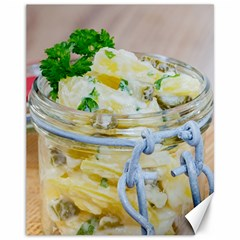 Potato Salad In A Jar On Wooden Canvas 11  X 14   by wsfcow