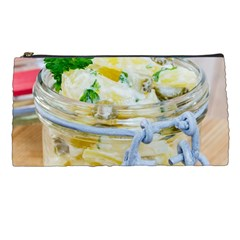 Potato salad in a jar on wooden Pencil Cases