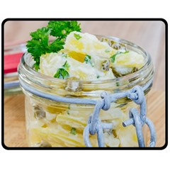 Potato Salad In A Jar On Wooden Fleece Blanket (medium)  by wsfcow