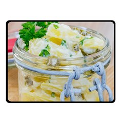 Potato Salad In A Jar On Wooden Fleece Blanket (small) by wsfcow