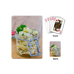 Potato Salad In A Jar On Wooden Playing Cards (mini)  by wsfcow