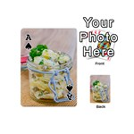 Potato salad in a jar on wooden Playing Cards 54 (Mini)  Front - SpadeA