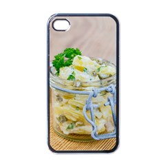 Potato salad in a jar on wooden Apple iPhone 4 Case (Black)