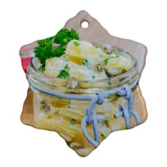 Potato Salad In A Jar On Wooden Ornament (snowflake)  by wsfcow