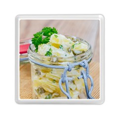 Potato Salad In A Jar On Wooden Memory Card Reader (square)  by wsfcow