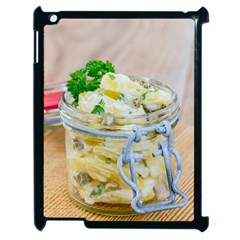 Potato Salad In A Jar On Wooden Apple Ipad 2 Case (black) by wsfcow