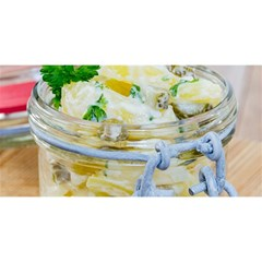 Potato Salad In A Jar On Wooden You Are Invited 3d Greeting Card (8x4) by wsfcow