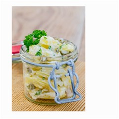 Potato Salad In A Jar On Wooden Large Garden Flag (two Sides) by wsfcow