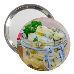 Potato Salad In A Jar On Wooden 3  Handbag Mirrors by wsfcow
