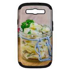 Potato Salad In A Jar On Wooden Samsung Galaxy S Iii Hardshell Case (pc+silicone) by wsfcow