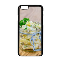 Potato Salad In A Jar On Wooden Apple Iphone 6/6s Black Enamel Case by wsfcow