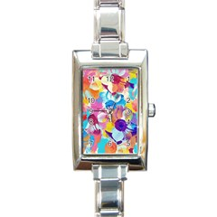 Anemones Rectangle Italian Charm Watch