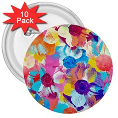 Anemones 3  Buttons (10 Pack)