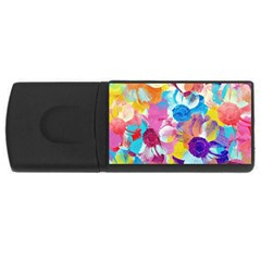 Anemones Usb Flash Drive Rectangular (4 Gb)  by DanaeStudio