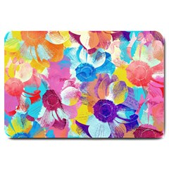Anemones Large Doormat  by DanaeStudio