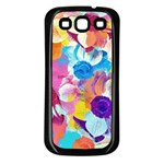 Anemones Samsung Galaxy S3 Back Case (Black) Front