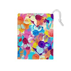 Anemones Drawstring Pouches (medium)