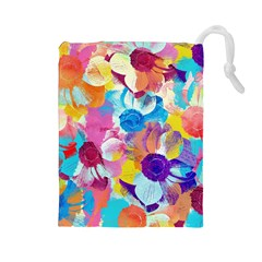 Anemones Drawstring Pouches (large)  by DanaeStudio