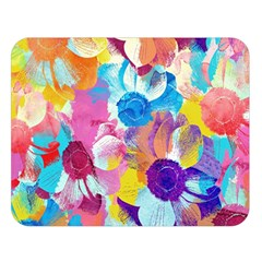Anemones Double Sided Flano Blanket (large)  by DanaeStudio