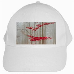 Magic Forest In Red And White White Cap by wsfcow