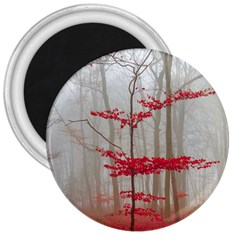 Magic forest in red and white 3  Magnets