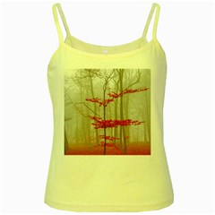 Magic Forest In Red And White Yellow Spaghetti Tank