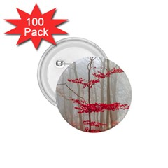 Magic Forest In Red And White 1 75  Buttons (100 Pack)  by wsfcow