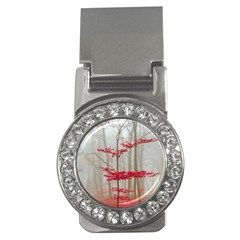 Magic Forest In Red And White Money Clips (cz)  by wsfcow