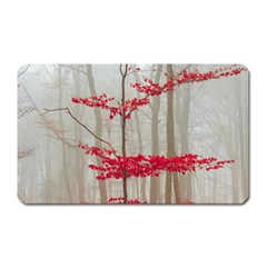 Magic forest in red and white Magnet (Rectangular)