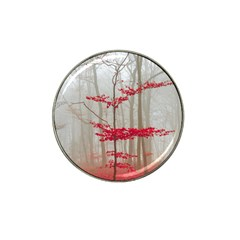 Magic Forest In Red And White Hat Clip Ball Marker (4 Pack) by wsfcow