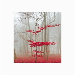 Magic forest in red and white Collage Prints