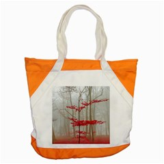 Magic Forest In Red And White Accent Tote Bag by wsfcow
