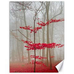 Magic forest in red and white Canvas 18  x 24