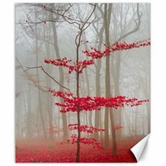 Magic Forest In Red And White Canvas 20  X 24   by wsfcow