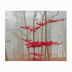 Magic Forest In Red And White Small Glasses Cloth (2 Side) by wsfcow