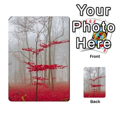 Magic Forest In Red And White Multi Purpose Cards (rectangle)  by wsfcow