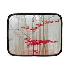 Magic Forest In Red And White Netbook Case (small)  by wsfcow