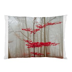 Magic forest in red and white Pillow Case